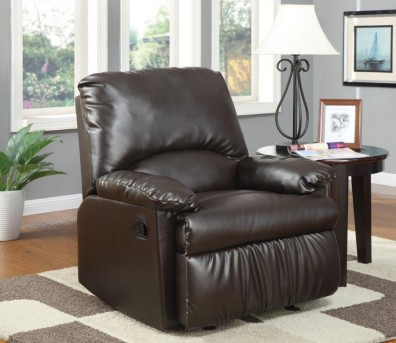 Coaster Salvia Split Back Vinyl Upholstered Glider Recliner Available Online in Dallas Fort Worth Texas