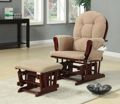 Coaster Thomas Glider And Ottoman Available Online in Dallas Fort Worth Texas