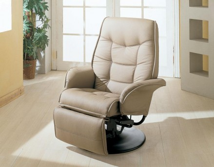 Coaster Georgia Bone Swivel Reclining Chair Available Online in Dallas Fort Worth Texas