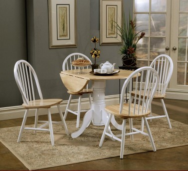 Coaster Damen Round Drop Leaf Table Available Online in Dallas Fort Worth Texas