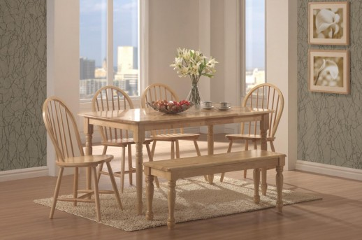 Coaster Damen Natural Rectangle Dining Table Available Online in Dallas Fort Worth Texas