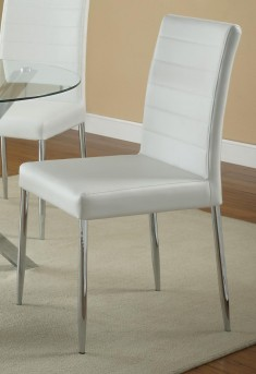 Coaster Vance White Side Chair Available Online in Dallas Fort Worth Texas