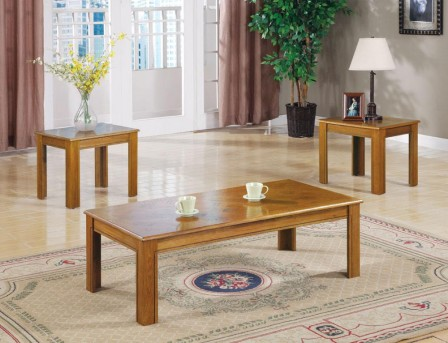 Coaster San Martin 3pc Oak Parquet Coffee Table Set Available Online in Dallas Fort Worth Texas