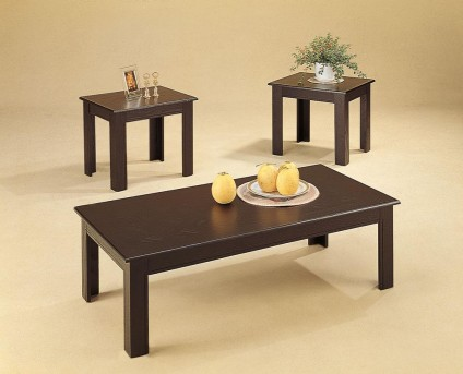Coaster San Martin 3pc Cappuccino Parquet Coffee Table Set Available Online in Dallas Fort Worth Texas