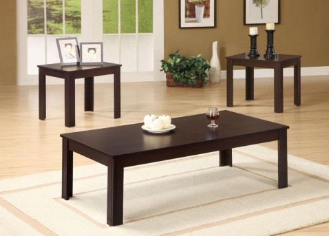 Coaster San Martin 3pc Dark Walnut Coffee Table Set Available Online in Dallas Fort Worth Texas
