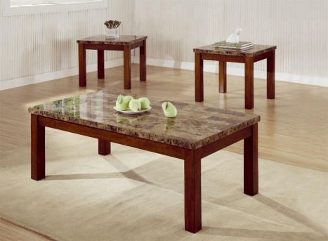 Coaster San Martin 3pc Cherry Coffee Table Set Available Online in Dallas Fort Worth Texas