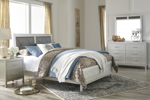 Ashley Olivet Upholstered Queen Bed Available Online in Dallas Fort Worth Texas