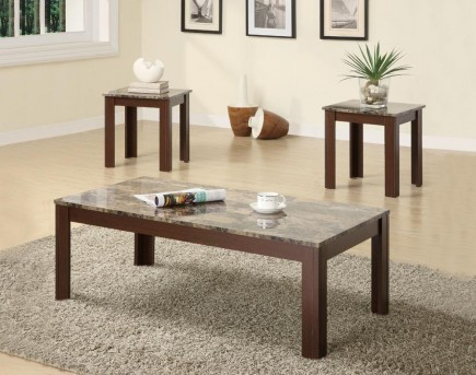 Coaster San Martin 3pc Brown Coffee Table Set Available Online in Dallas Fort Worth Texas