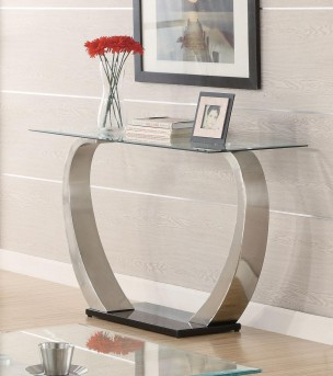 Coaster Shearwater Satin Plated Sofa Table Available Online in Dallas Fort Worth Texas