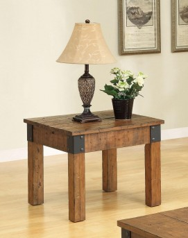 Coaster Country Wagon Brown End Table Available Online in Dallas Fort Worth Texas