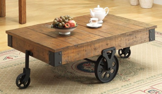 Coaster Country Wagon Brown Coffee Table Available Online in Dallas Fort Worth Texas