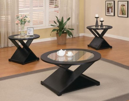 Coaster San Martin Black X Style 3pc Coffee Table Set Available Online in Dallas Fort Worth Texas