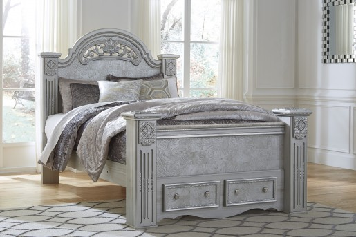 Ashley Zolena Queen Poster Storage Bed Available Online in Dallas Fort Worth Texas