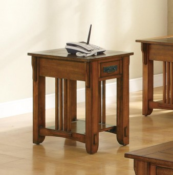 Coaster San Martin Mission Chairside Table Available Online in Dallas Fort Worth Texas