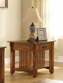 Coaster San Martin Oak Mission End Table Available Online in Dallas Fort Worth Texas