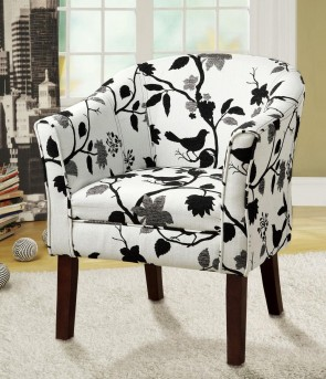 Coaster Elliott Black And White Bird Accent Chair Available Online in Dallas Fort Worth Texas