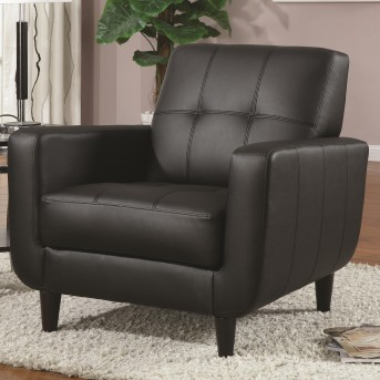 Coaster Washington Black Vinyl Accent Chair Available Online in Dallas Fort Worth Texas