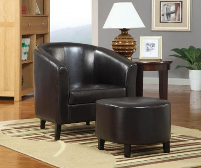 Coaster Barrel Accent Chair W/Ottoman Available Online in Dallas Fort Worth Texas