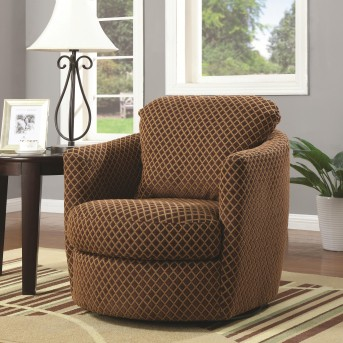Coaster Bachman Brown Upholstered Accent Chair Available Online in Dallas Fort Worth Texas