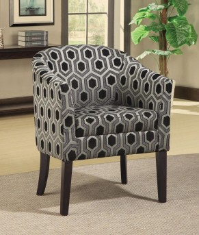 Coaster Charlotte Hexagon Patterned Accent Chair Available Online in Dallas Fort Worth Texas