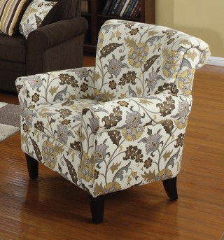 Coaster Rosalie Floral Accent Chair Available Online in Dallas Fort Worth Texas