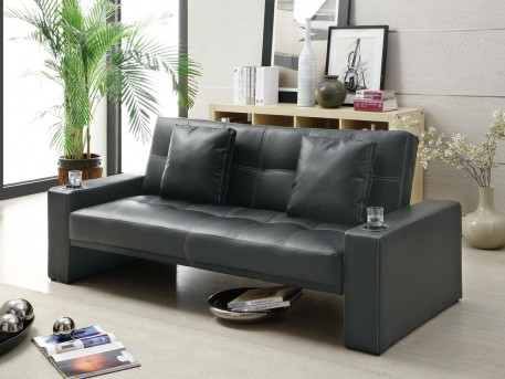 Coaster Dawdson Black Sofa Bed Available Online in Dallas Fort Worth Texas