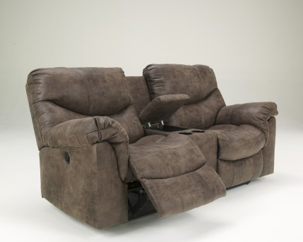 Ashley Alzena Reclining Loveseat with Console Available Online in Dallas Fort Worth Texas