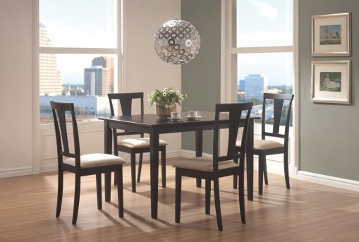 Coaster Geary 5pc Black Dining Room Set Available Online in Dallas Fort Worth Texas