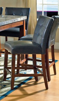 SteveSilver Montibello Dark Brown Counter Parsons Chair Available Online in Dallas Fort Worth Texas