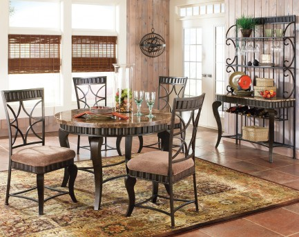 Hamlyn Marble Top Dining Table Available Online in Dallas Texas