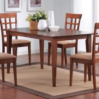 Coaster Leigh Rectangle Leg Dining Table Available Online in Dallas Fort Worth Texas