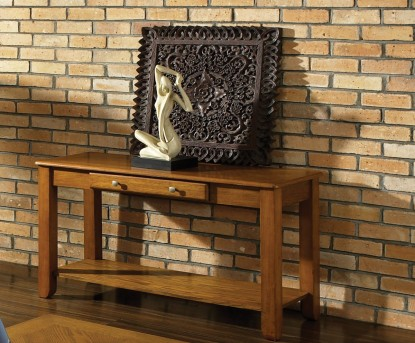 SteveSilver Nelson Oak Sofa Table Available Online in Dallas Fort Worth Texas
