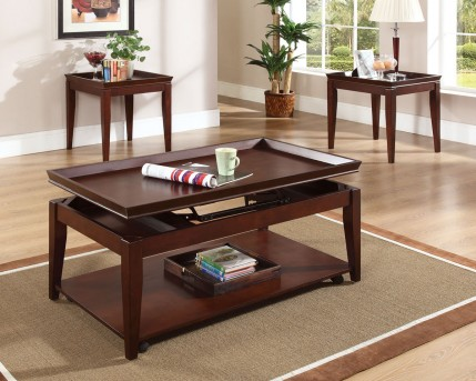 SteveSilver Clemens 3pc Lift-Top Coffee Table Set Available Online in Dallas Fort Worth Texas