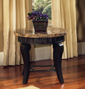 SteveSilver Hamlyn Marble Top End Table Available Online in Dallas Fort Worth Texas