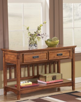 Ashley Cross Island Sofa Table Available Online in Dallas Fort Worth Texas