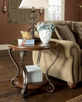 Ashley Nestor Round End Table Available Online in Dallas Fort Worth Texas