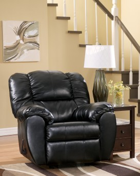 Ashley Dylan DuraBlend Onyx Rocker Recliner Available Online in Dallas Fort Worth Texas
