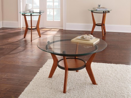 SteveSilver Saxony 3pc Glass Top Coffee Table Set Available Online in Dallas Fort Worth Texas