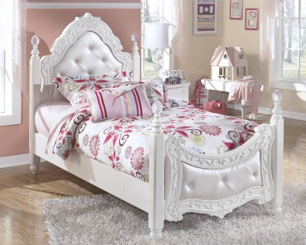 Ashley Exquisite Twin Poster Headboard / Footboard Available Online in Dallas Fort Worth Texas