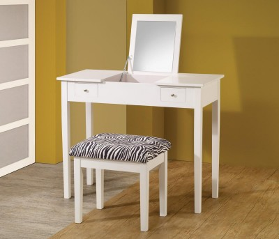 Coaster Zebra Contempo White Vanity Set Available Online in Dallas Fort Worth Texas