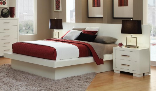 Coaster Jessica White Cal King Bed Available Online in Dallas Fort Worth Texas