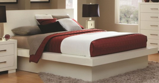 Coaster Jessica White Queen Bed Available Online in Dallas Fort Worth Texas