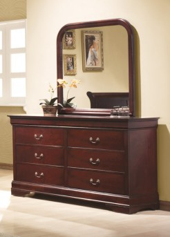 Coaster Louis Philippe Cherry Dresser Available Online in Dallas Fort Worth Texas