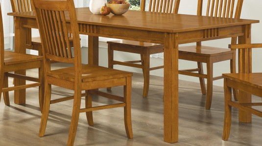 Coaster Marbrisa Mission Oak Dining Table Available Online in Dallas Fort Worth Texas