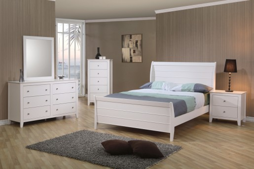 Coaster Selena 5pc Full Sleigh Bedroom Set Available Online in Dallas Fort Worth Texas