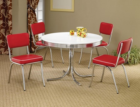Coaster Cleveland Round Retro Dining Table Available Online in Dallas Fort Worth Texas