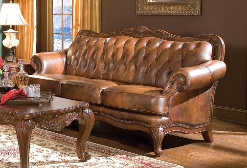 Beau Coaster Victoria Leather Sofa Available Online In Dallas Fort Worth Texas