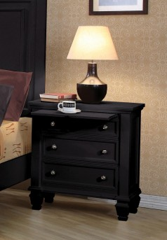 Coaster Sandy Beach Black Night Stand Available Online in Dallas Fort Worth Texas