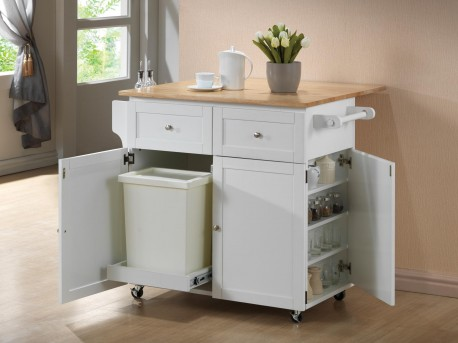 Coaster Damen White/Natural Server Available Online in Dallas Fort Worth Texas
