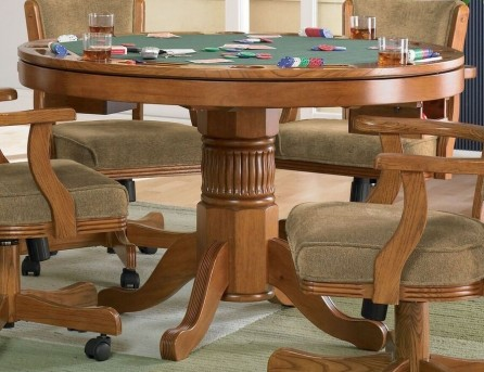 Coaster Mitchell Oak Game Table Available Online in Dallas Fort Worth Texas